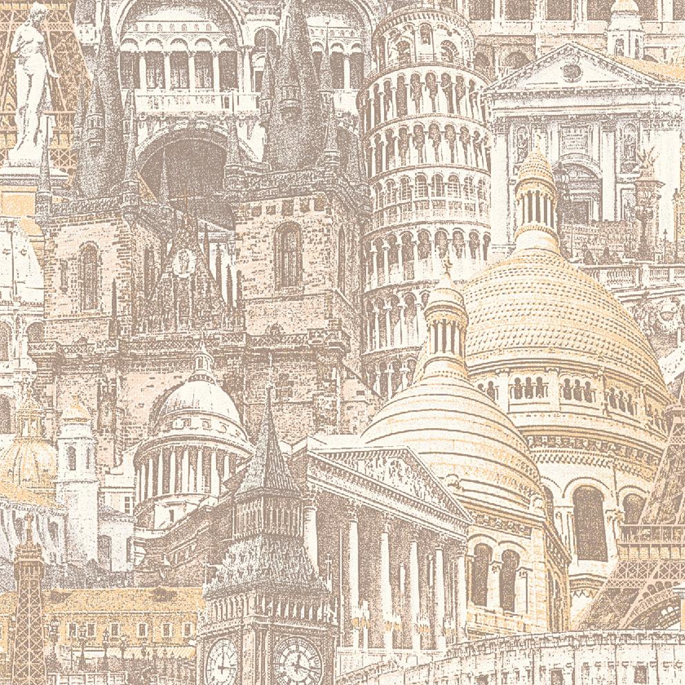 обои с рисунком города для стен